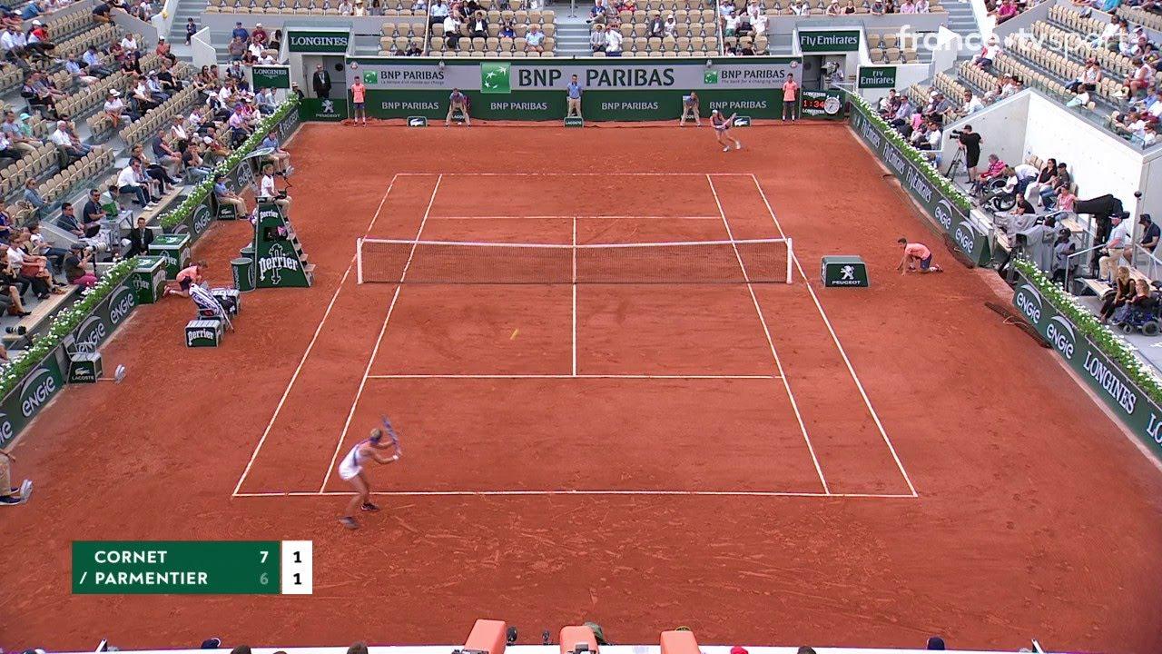 Download Roland-Garros : Solide défense d'Alizé Cornet après avoir visité le court !