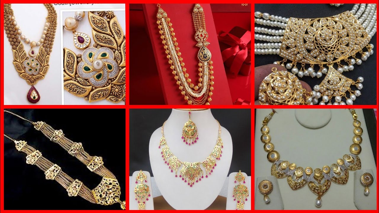 Most Beautiful Old And New Gold Jewellery Designs Collection Youtube