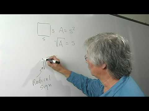 Math Definitions What Is The Radical Sign Youtube