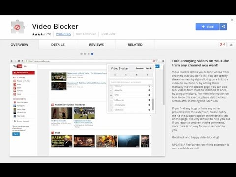 Block all images and videos on youtube channels