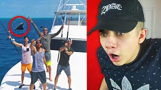 Deep Sea Fishing Battle Dude Perfect REACTION!