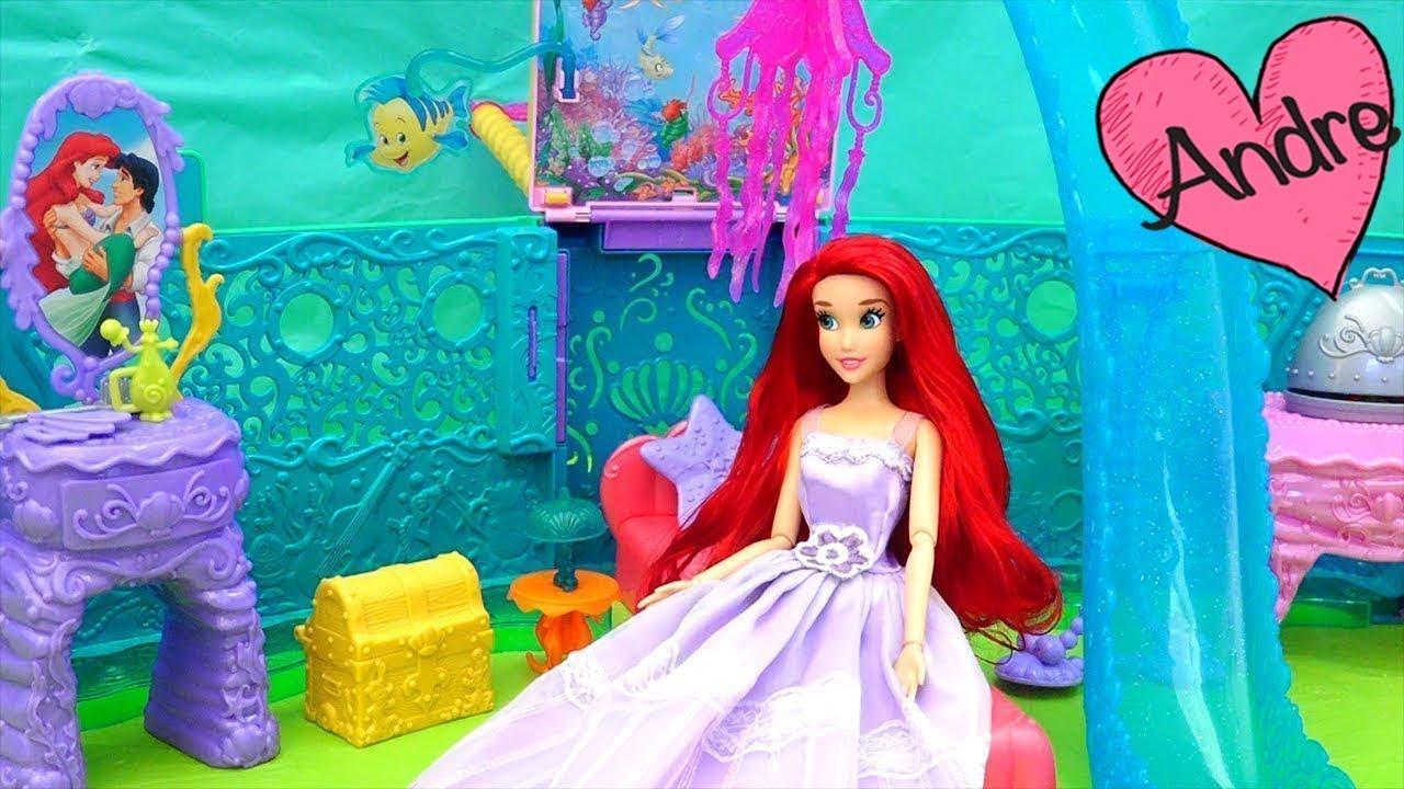 Hija de Ariel tiene una amiga sirena | Muñecas y juguetes con Andre ...