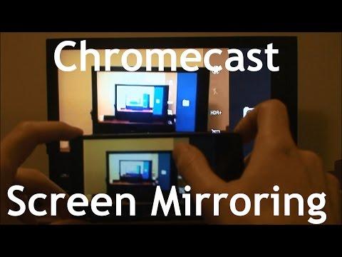 Mirroring Phone Screen To TV Via Chromecast