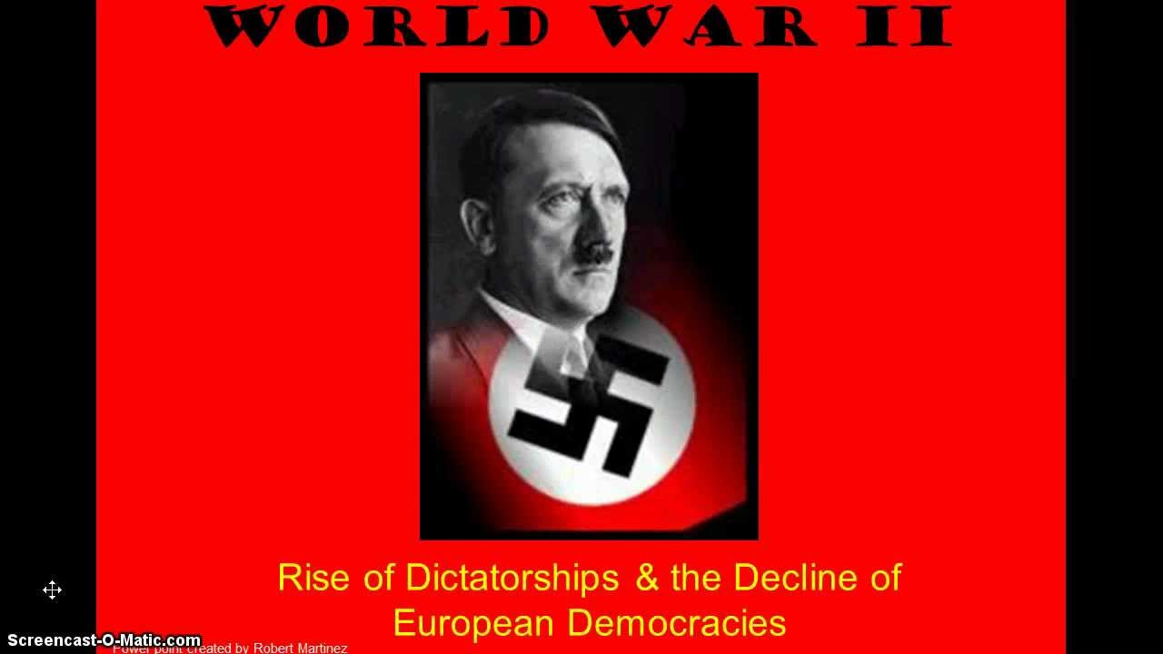 the rise of dictatorships From adolf hitler to mao zedong, these are 25 of history's deadliest dictators to ever walk the earth and misuse their power.