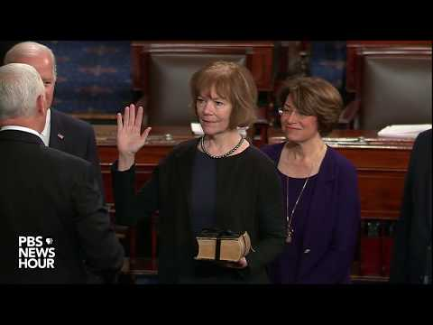 WATCH: Senate swears in Alabama Democrat Doug Jones, and Minnesota Lt. Gov. Tina Smith