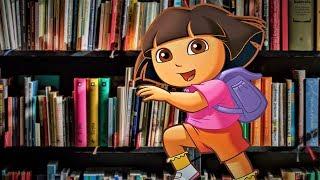 דורה הולכת לספרייה