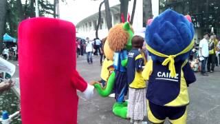 2011年7月2日 正田醤油スタジアム群馬にゆるキャラ大集合! ホー...