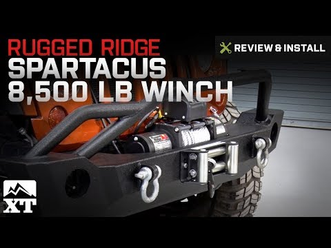 Rugged Ridge Wrangler Spartacus Heavy Duty 8,500 Lb. Winch W/ Steel Cable  15100.30   Free Shipping
