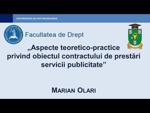 Marian Olari — Obiectul contractului de prestări servicii publicitate
