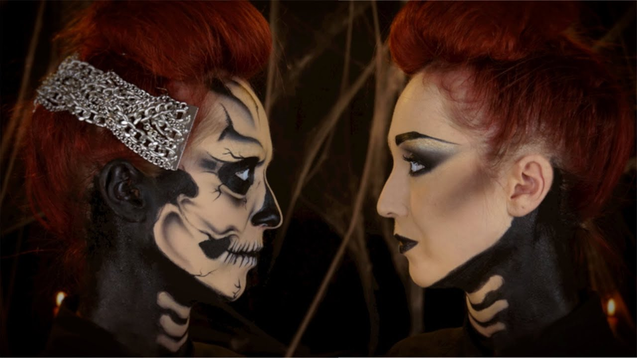 Maquillage Halloween Squelette Inspiration Zombie Boy Skeleton Youtube