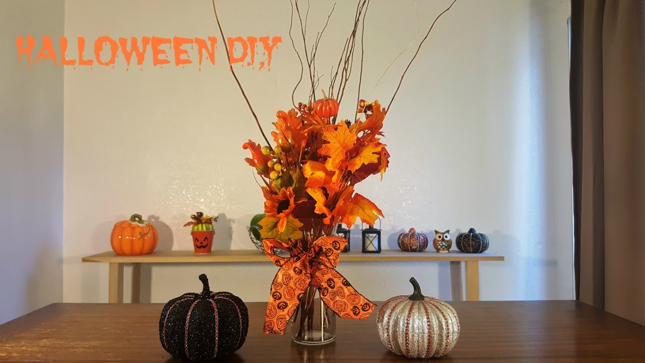 halloween diy flower arrangements and decor