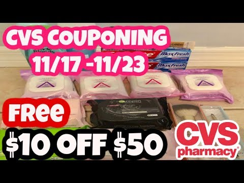 FREE Cvs Couponing 11/17 - 11/23 | $10 OFF $50
