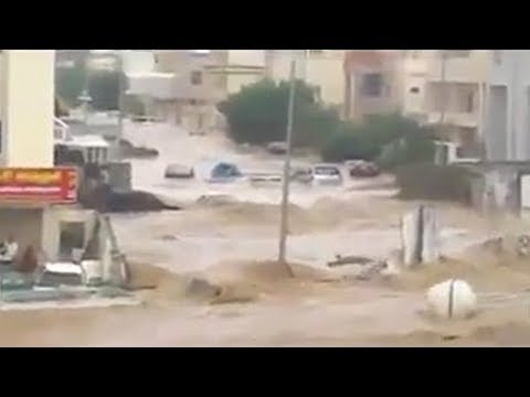 Floods bring devastation in Girne (Kyrenia), Cyprus (Dec 5, 2018)