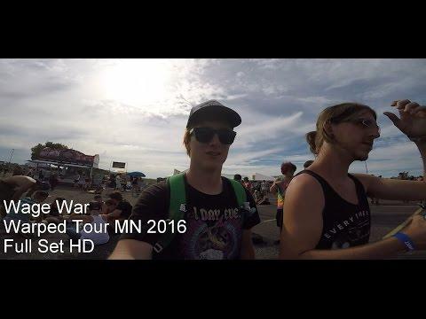 Wage War - Full Set Live @ Warped Tour 2016 MINNESOTA