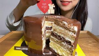 ASMR 초보유튜버의 어려웠던 케이크 먹방 뚜레쥬르 골…