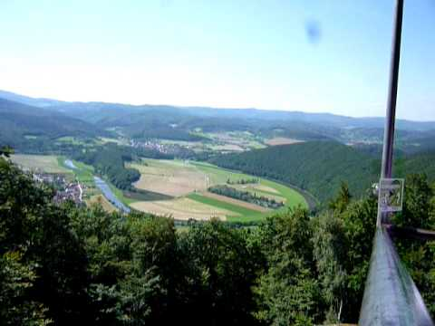 Traveling in Germany - On a hill/mountain near the East/West Germany border