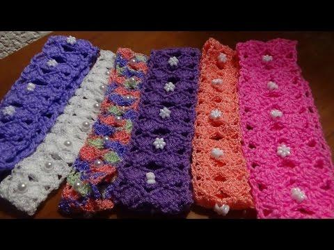 Còmo hacer una diadema o banda para el pelo, puntada a crochet ...