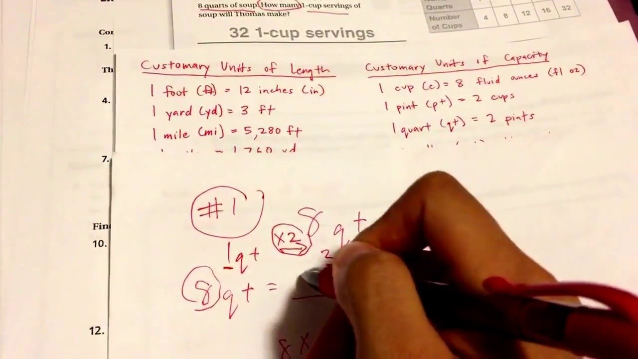 problem solving customary and metric conversions lesson 10.6 homework