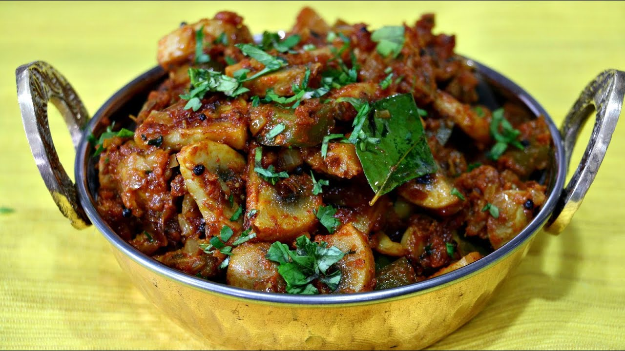 Mushroom masala indian recipe under 20 mins youtube forumfinder Images