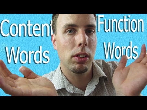 More Natural English | Content and Function Words | Like A Native Speaker