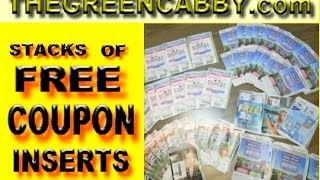Stacks of FREE COUPON INSERTS for ( EXTREME COUPONING ) How-to SmartSource