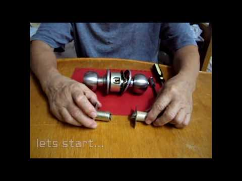 HOW TO DISASSEMBLE A DOOR KNOB LOCKSET  For Beginners