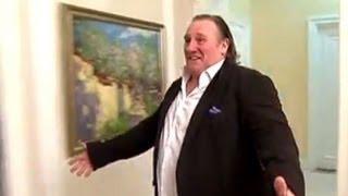 Gerard Depardieu makes a big impression on Vladimir Putin