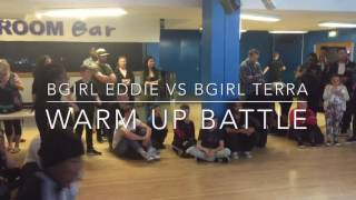 King of The Bboys 2016 - 12 & Under Breakin Battle - Bgirl Eddie vs Bgirl Terra - Warm Up Battle