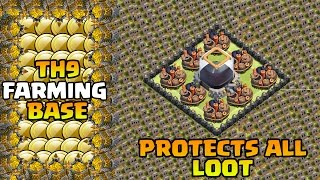 Clash of Clans - Townhall 9 (TH9) FARMING Defense Base 2 Air Sweepers | CoC TH9 Base Strategy 2015