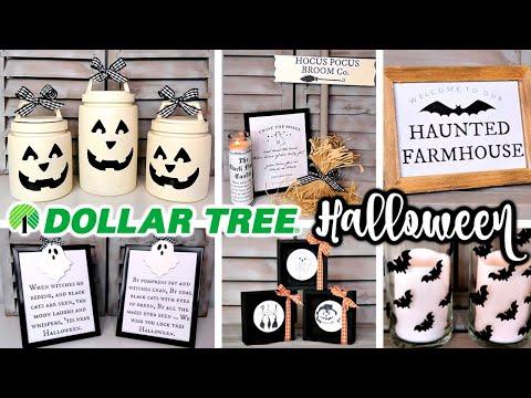 DIY DOLLAR TREE HALLOWEEN DECOR   FARMHOUSE FALL TRENDS