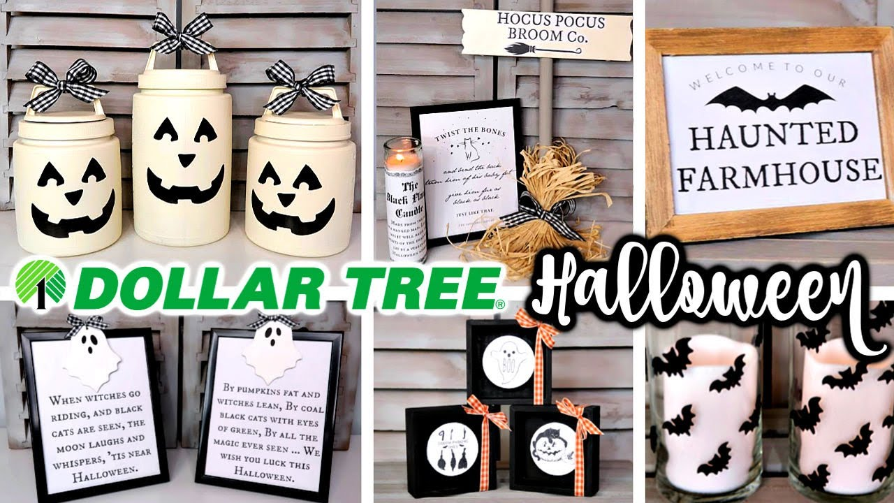 DIY DOLLAR TREE HALLOWEEN DECOR  FARMHOUSE FALL TRENDS