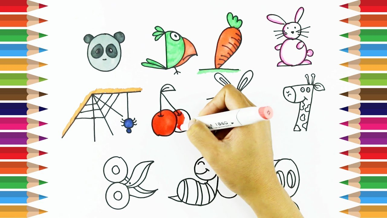 How To Draw Using Numbers 1 10 Learn Drawing For Kids Kids Art