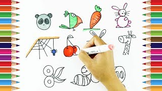 How to draw using Numbers 1 - 10 | Learn Drawing For Kids | Kids Art TV