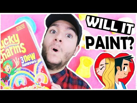 LUCKY CHARMS CEREAL - WILL IT PAINT?!