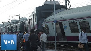 CCTV Footage Shows Head-On Collision of Trains in India