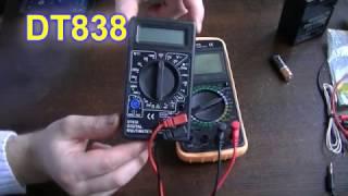 Как пользоваться Мультиметром DT9208A и DT838 обзор их функций