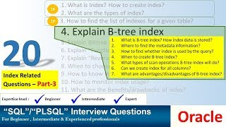Oracle Interview Question - oracle index related questions - BTREE index in oracle