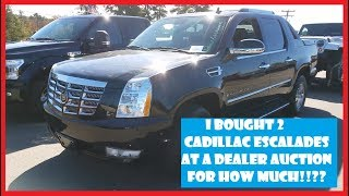I bought 2 Escalades at a Dealer Only Car Auction !!