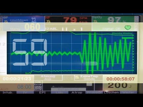 COUNTDOWN TIMER (v 125) 80 sec clock with sound effects (ECG/EKG STYLE) 4k!