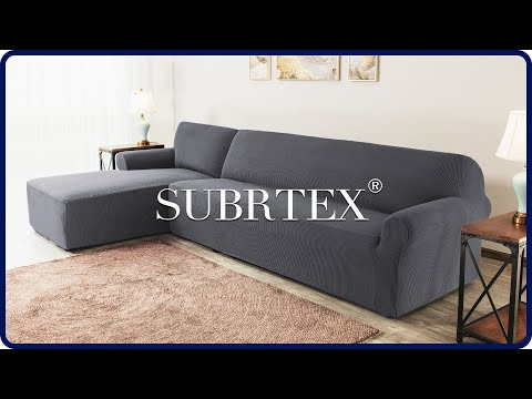 How to install 2 Pieces L-Shaped Sectional Couch Covers by Subrtex