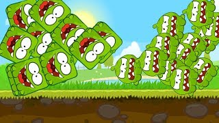 Playing Red Ball 4 with Om Nom Ball (Cut The Rope) vs boss fights volume 1