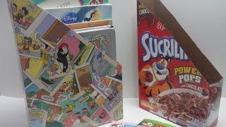 Organizador feito reciclando caixa de cereal e gibi – Alinne Marques