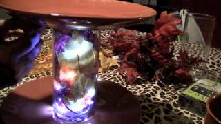 Diy 3 Tier Stand Fall Display With Lights Dollar Tree Craft