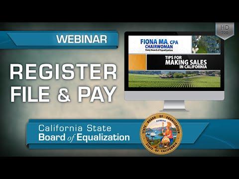 Webinar: Tips for Making Sales in California - Register, File & Pay