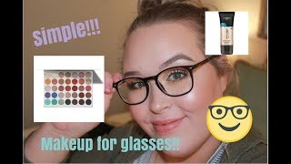 SIMPLE AFFORDABLE MAKEUP FOR GLASSES w/ DIFFERENT LIP OPTIONS | Anna Hathcock