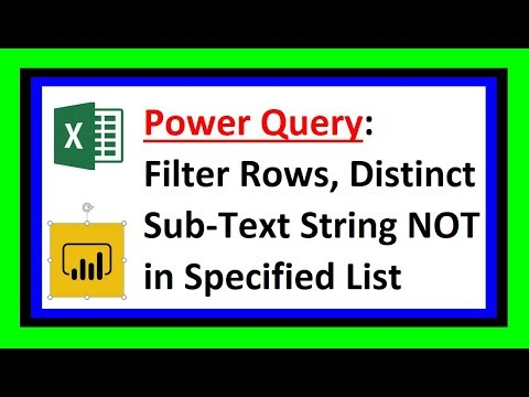 Power Query - Filter Table Based on Distinct NOT Conditions from List -  Excel Magic Trick 1592