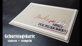 Geburtstagskarte | Glückwunsch | Labeler Alphabet | Stampin