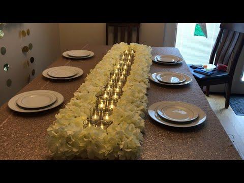 DIY - long wedding table decor | floral runner centerpiece| DIY dollar tree| easy wedding decor |