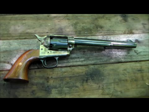 Shooting the Colt 1873 SAA  44 Cap & Ball Revolver - YouTube