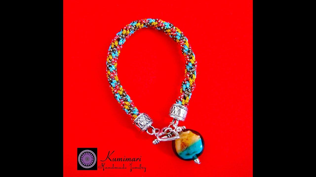 Kumimari 2 basic 8 strand bracelet pulsera basica de 8 - Youtube manualidades para el hogar ...